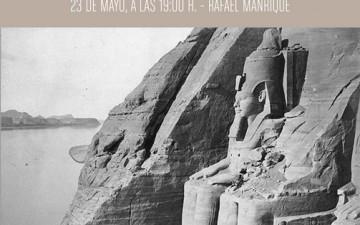 """CHARLA """"PIONEROS DE LA FOTOGRAFIA EN EGIPTO"""""""